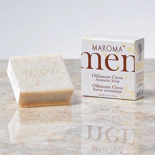 Maroma Men Olibanum Citrus Face & Body Soap