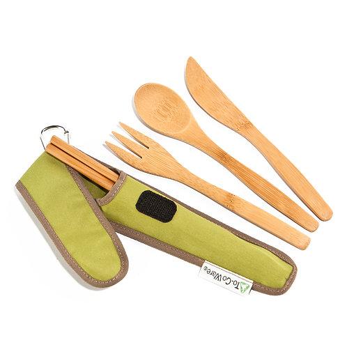 To-Go Ware Bamboo Utensil Set - Avocado/Green