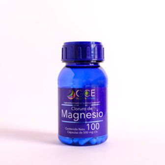 CLORURO DE MAGNESIO 100 capsulas de 500 mg