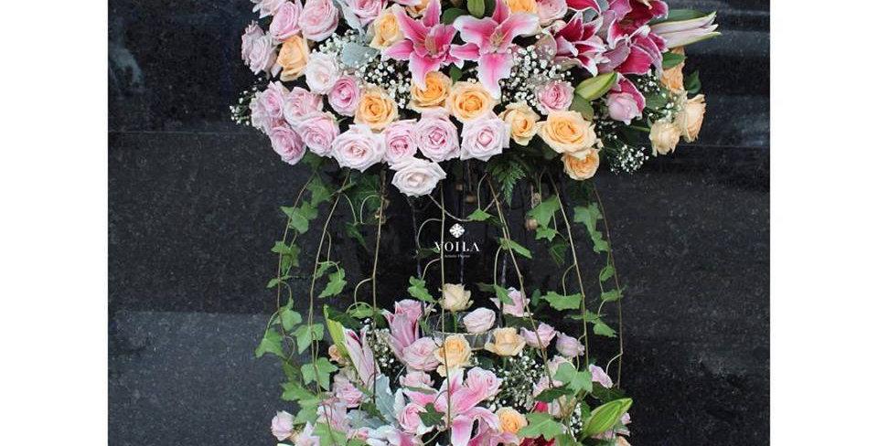 Sweet Pink Standing Flowers