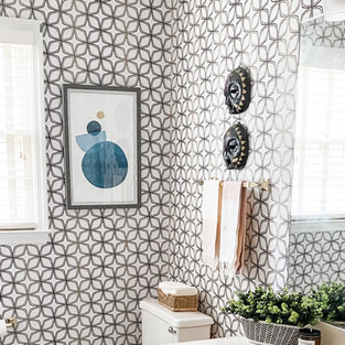 BRIGHT, BOLD, AND GLOBAL BATHROOM REMODEL IN CONYERS