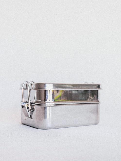 Fiambrera Acero Inoxidable con Doble Compartimento (400ml+425ml)