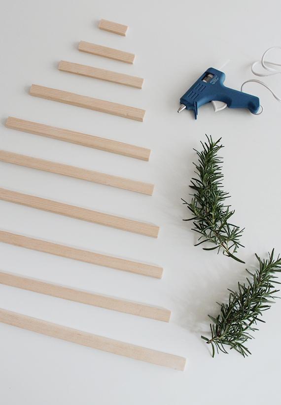 árbol navidad sostenible DIY