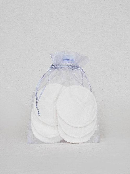 Discos de Lactancia Reutilizables de Algodón (6 unidades)