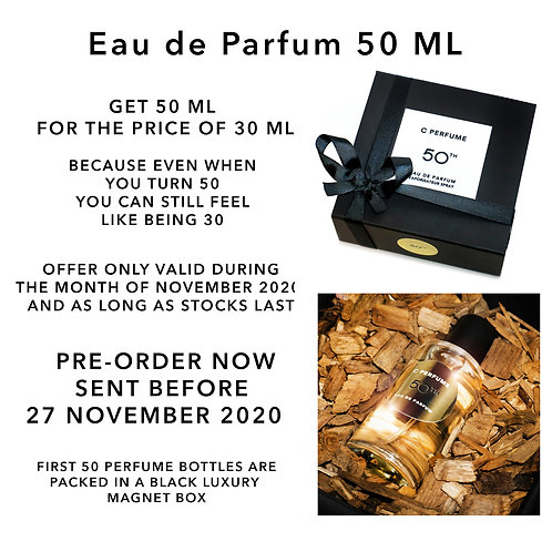 DELUXE C Perfume 50TH BIRTHDAY OFFER! 50 ml