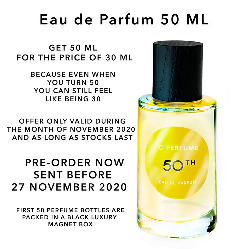 C Perfume 50TH BIRTHDAY OFFER! (50 ML)