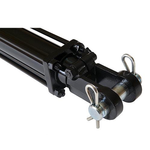 """2.5"""" bore x 8"""" ASAE stroke tie rod hydraulic cylinder"""