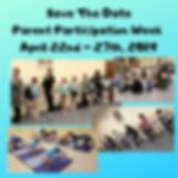 Save The Date Parent Participation Week