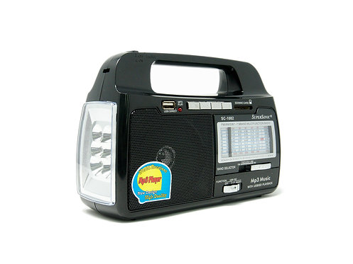 Rechargeable Light and Radio