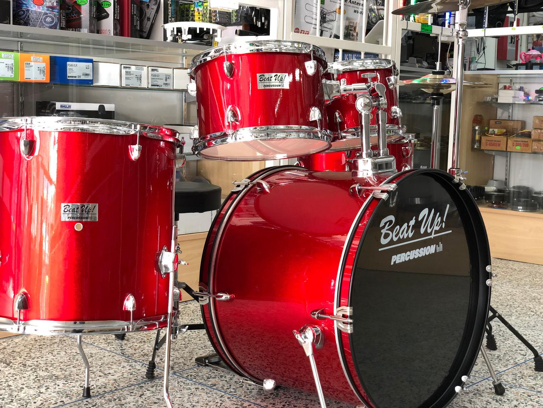5-Piece Drum set w/ Cymbals & Throne