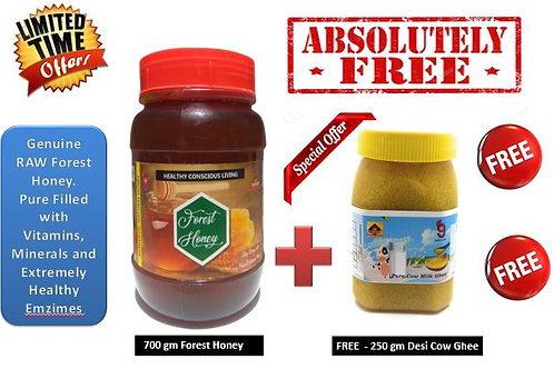 700g RAW Forest Honey + FREE 250g Desi Cow Ghee