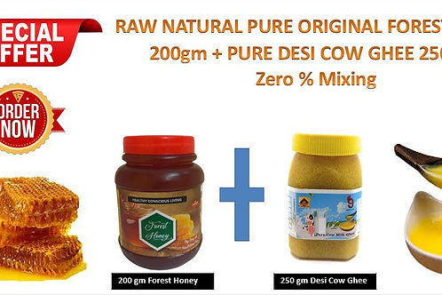200g Forest Honey + 250g Desi Ghee