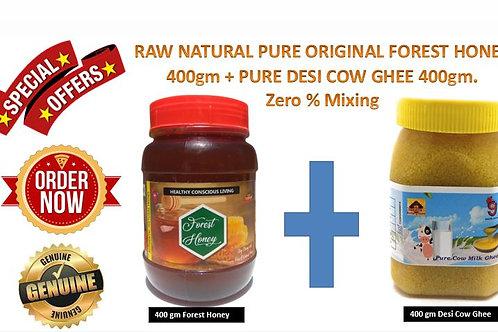 400g Forest Honey + 400g Desi Ghee