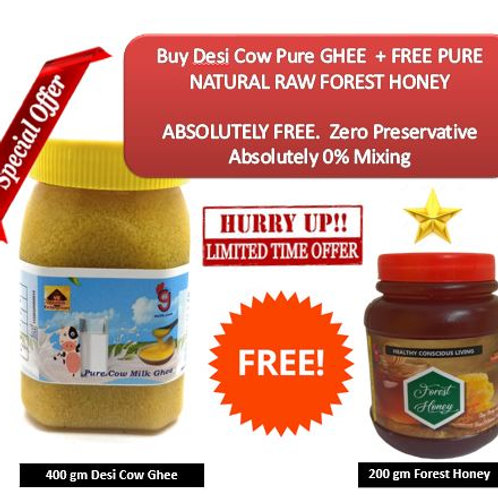 400g Desi Cow GHEE + FREE 200g Forest Honey