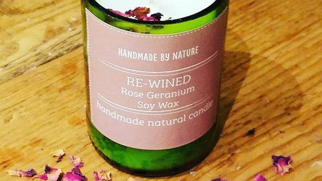 Rose Geranium ReWined Candle