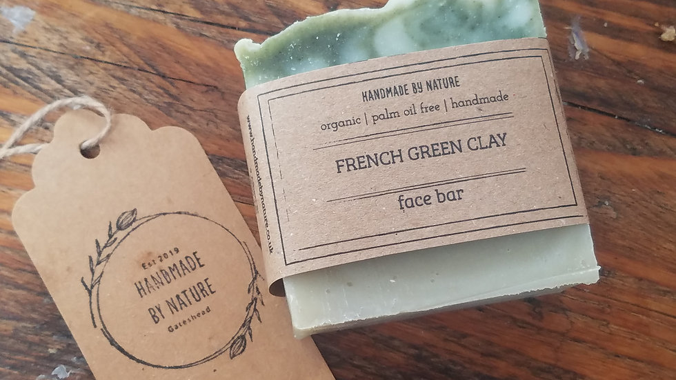 French Green Clay Face Bar