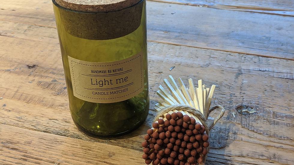 Handcut Bottle of  Matches