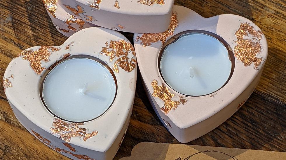 Handmade Heart Tea Light