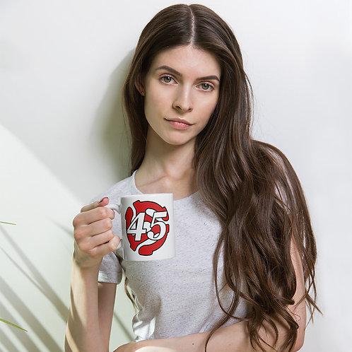 Spindle 45 White Glossy Mug