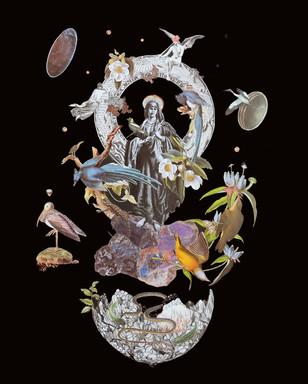 "'Mindful Mistress' 15"" x 18.5"" Hand-Cut Collage 2018"