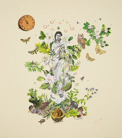 """SOLD - 'The Gardener' 18.5""""x21 2017"""