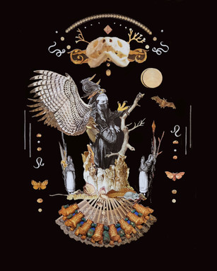 "'Like an Eagle' 13"" x 16"" Hand-Cut Collage 2018"