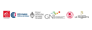 Logos des soutiens des Lumières de Paris - Institut International