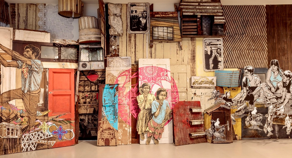 """L'exposition """"Time Capsule"""" de Swoon (DR Fluctuart)"""