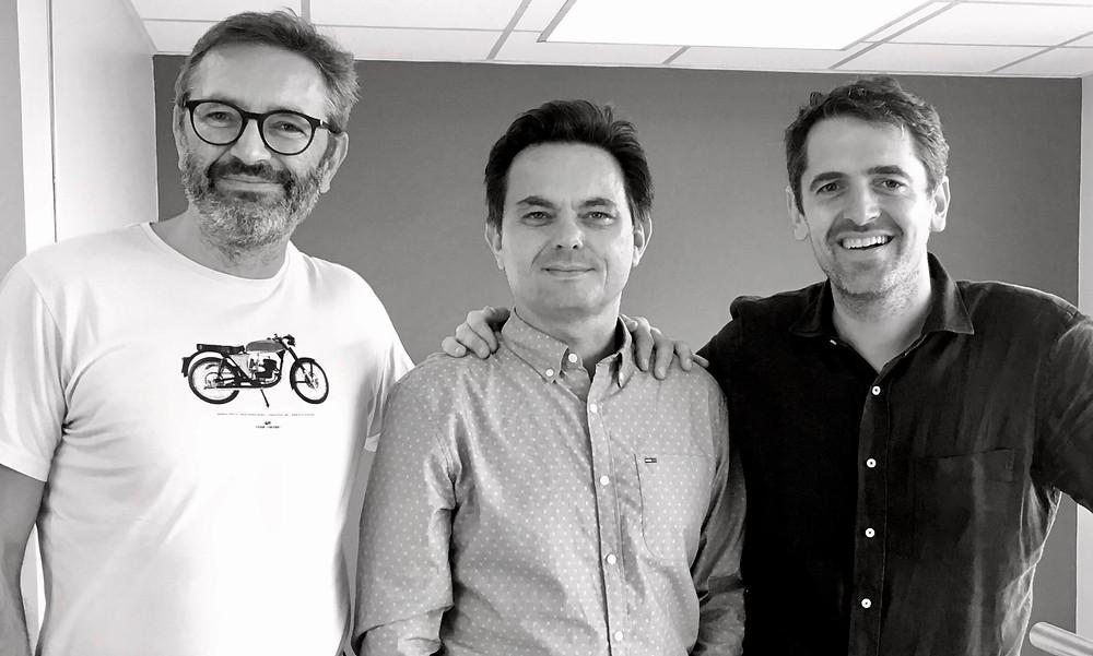 Les trois associés fondateurs de Fluctuart : Eric Philippon, Géraud Boursin et Nicolas Laugero Lasserre (DR Fluctuart)