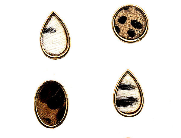 Animal Print Earring Set