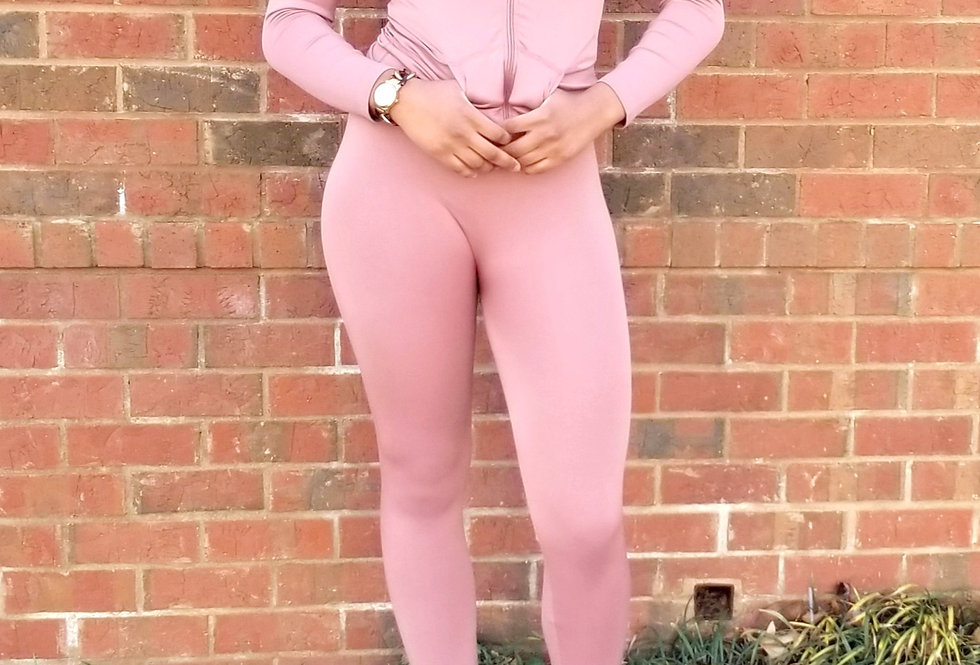 Just Chillin Rose Jogger Set