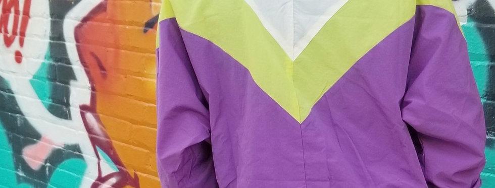 Purple & White Windbreaker Jacket