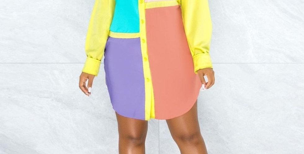 Color Me Bad Shirt Dress