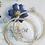 Thumbnail: Silver Rhinestone Hoop Earrings