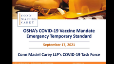 OSHA's COVID-19 Vaccine Mandate Emergency Temporary Standard