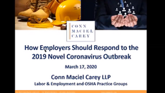 Bonus Webinar: How Employers Can Respond to COVID-19 and Frequently Asked Questions