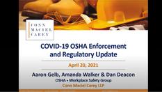 COVID-19 OSHA Enforcement and Regulatory Update