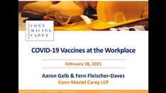 Special Bonus Webinar: COVID-19 Vaccines at the Workplace