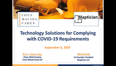 Technology Solutions for Complying with COVID-19 Requirements
