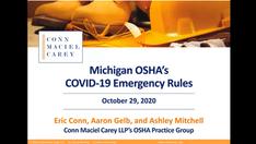Michigan OSHA's New COVID-19 Emergency Rule