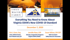 Lessons Learned from the Roll-out of Virginia OSHA's COVID-19 Emergency Standard