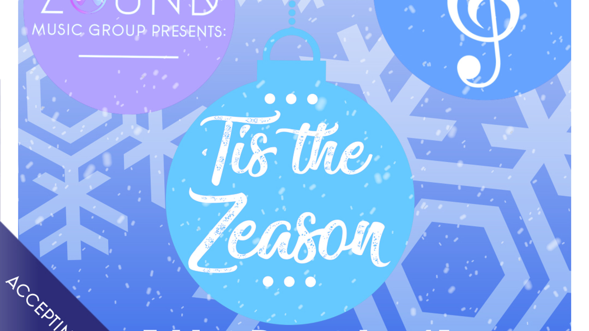 ZOUND Music Group presents: 'Tis the Zeason Motion Flyer