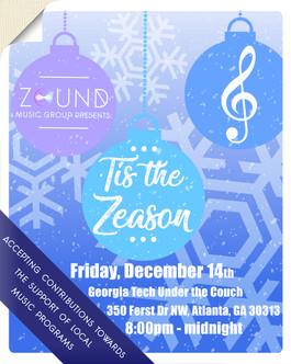 ZOUND Music Group presents: 'Tis the Zeason Motion Flyer