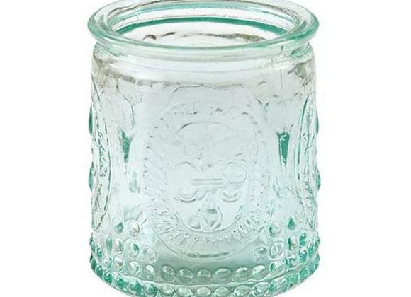 Vintage Style Votive Seaglass