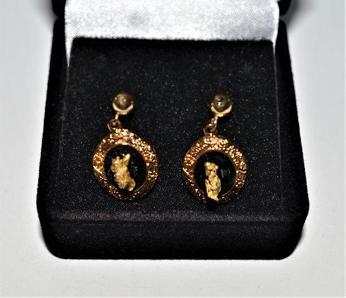 Gold Embossed Earrings