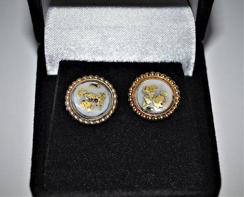 Gold/Qtz Post Earrings