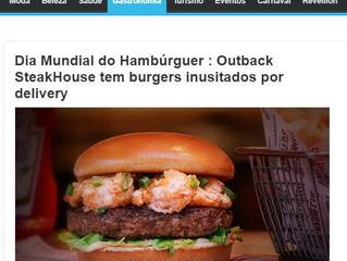 Dia Mundial do Hambúrguer : Outback SteakHouse tem burgers inusitados por delivery