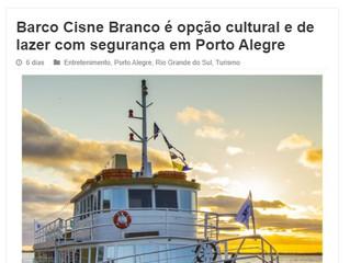 Barco Cisne Branco é opção cultural e de lazer com segurança em Porto Alegre