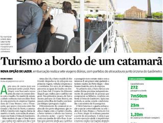 Mais lazer na orla - Turismo a bordo de um catamarã