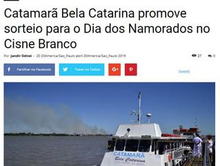 Catamarã Bela Catarina promove sorteio para o Dia dos Namorados no Cisne Branco